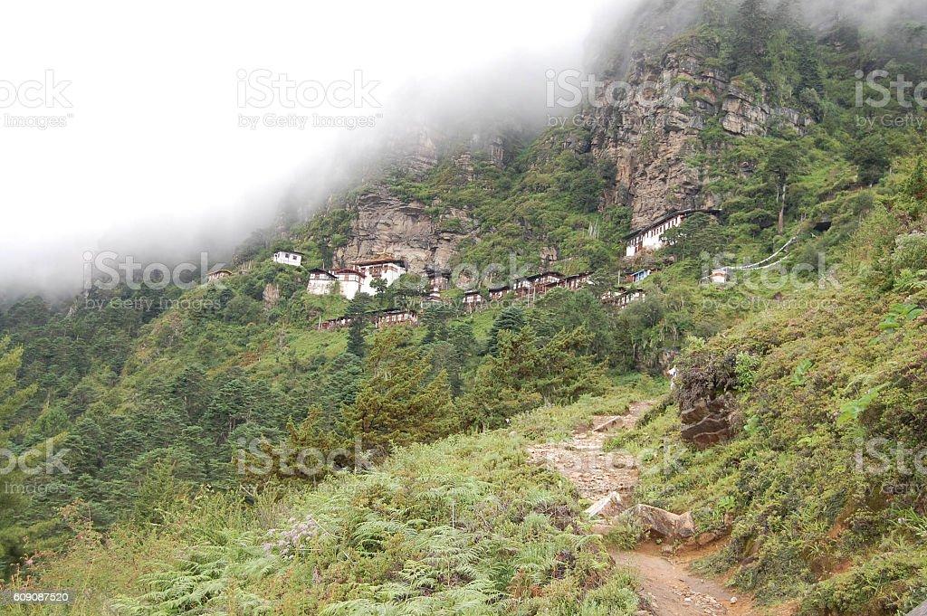 Nunnery Bhutan stock photo
