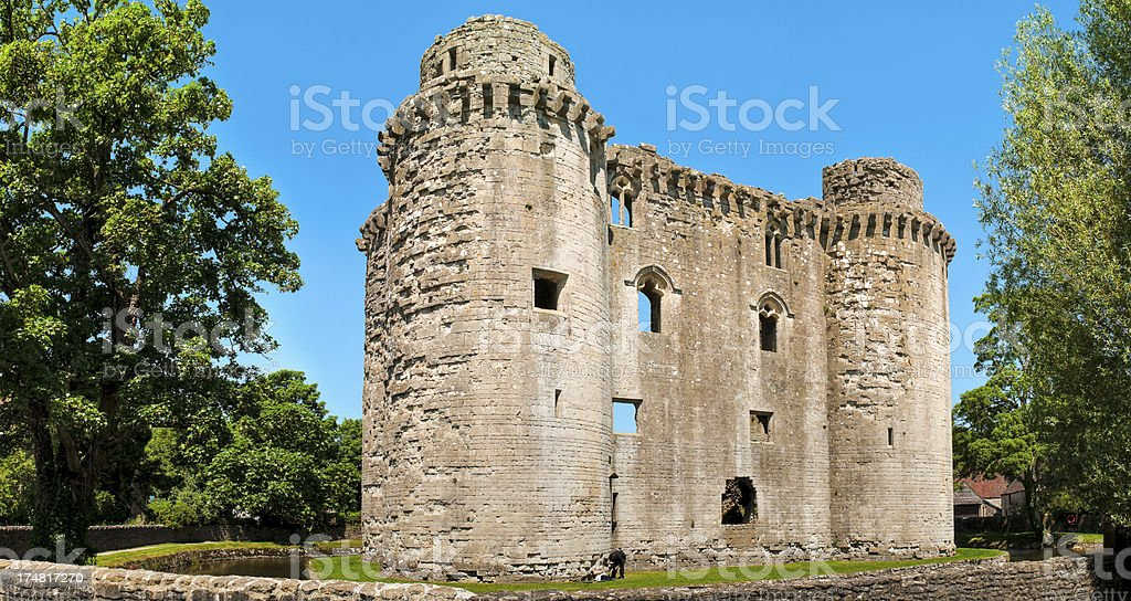 Nunney Castle, Frome, Somerset, UK stock photo