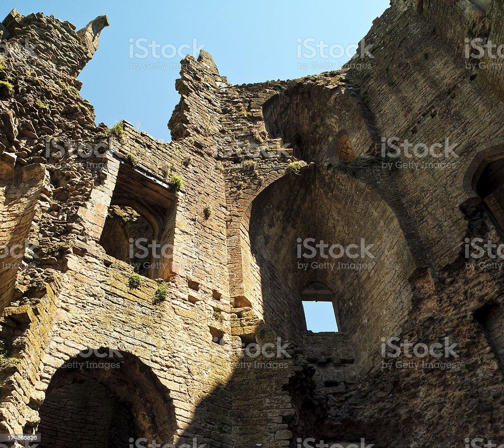 Nunney Castle, Frome, Somerset, UK royalty-free stock photo