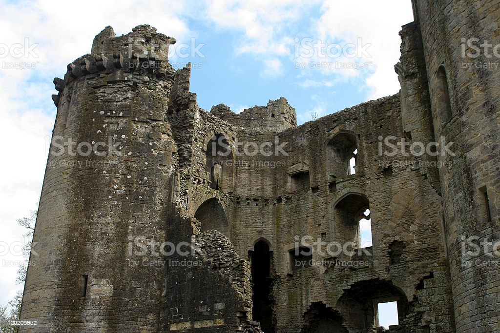Nunney Castle, South West England stock photo
