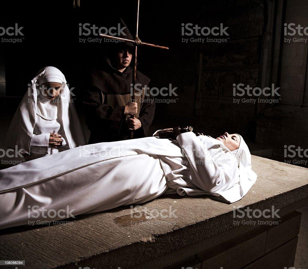 Nun's Funeral royalty-free stock photo