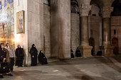 Nuns meditate in Holy Sepulchre Church