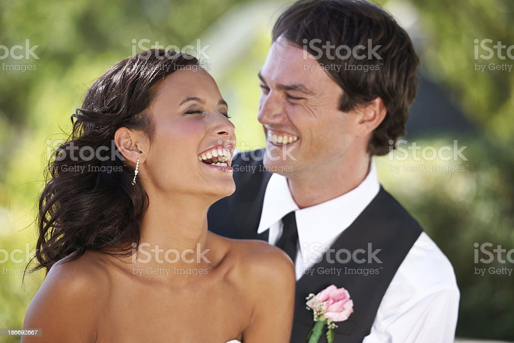 Nuptial bliss royalty-free stock photo