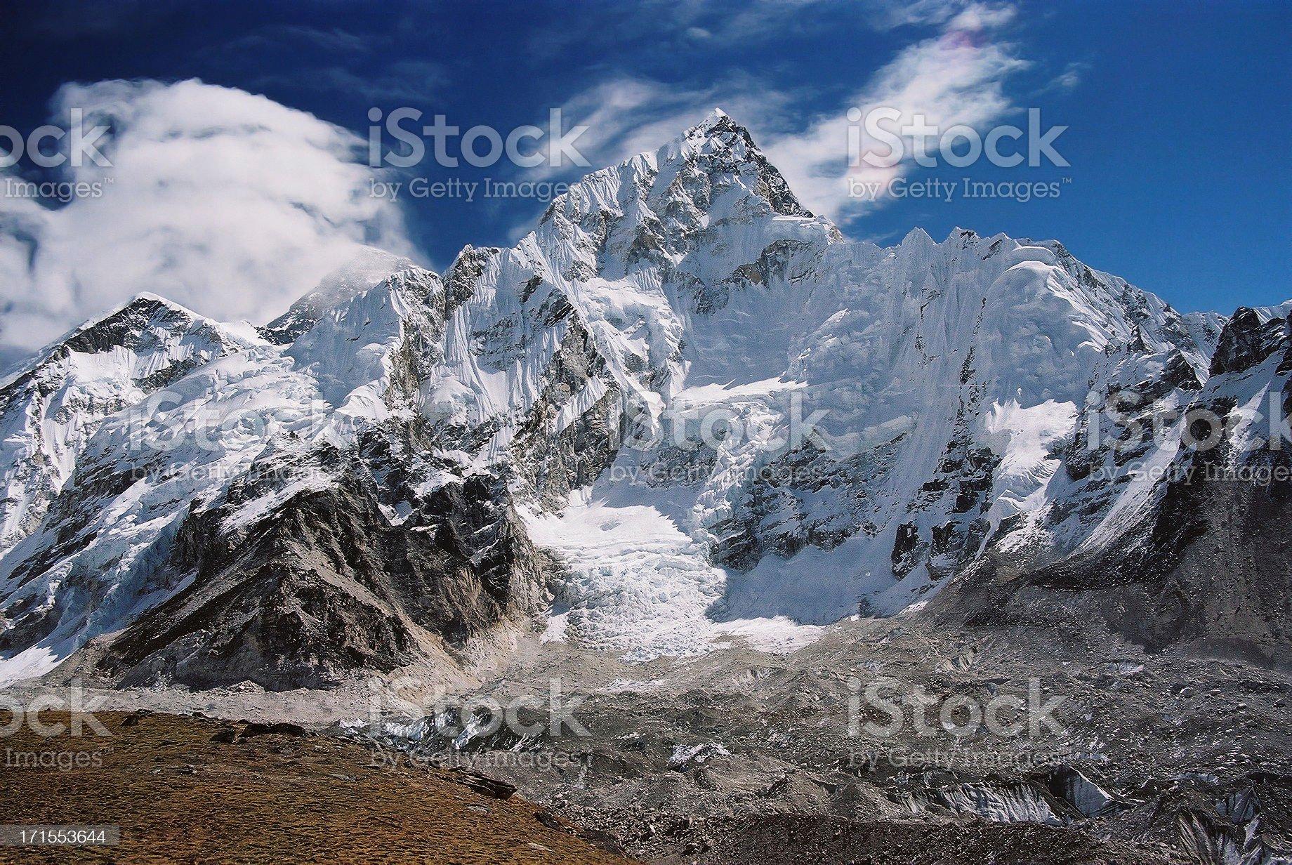 Nuptse i Mount Everest royalty-free stock photo