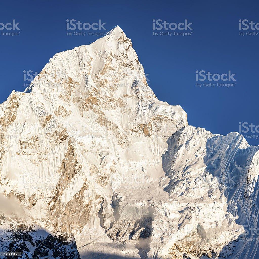 Nuptse peak in Mount Everest National Park 35MPix XXXXL size royalty-free stock photo