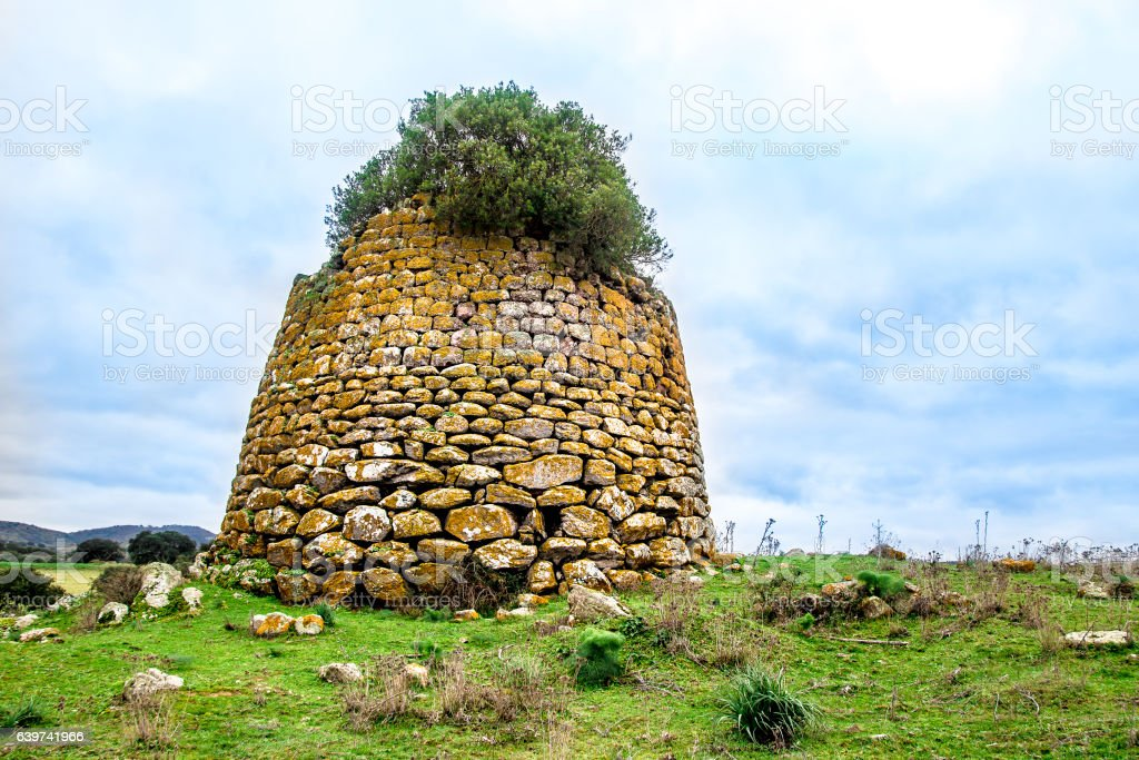 nuraghe, the main type of ancient edifice in Sardinia, Italy stock photo