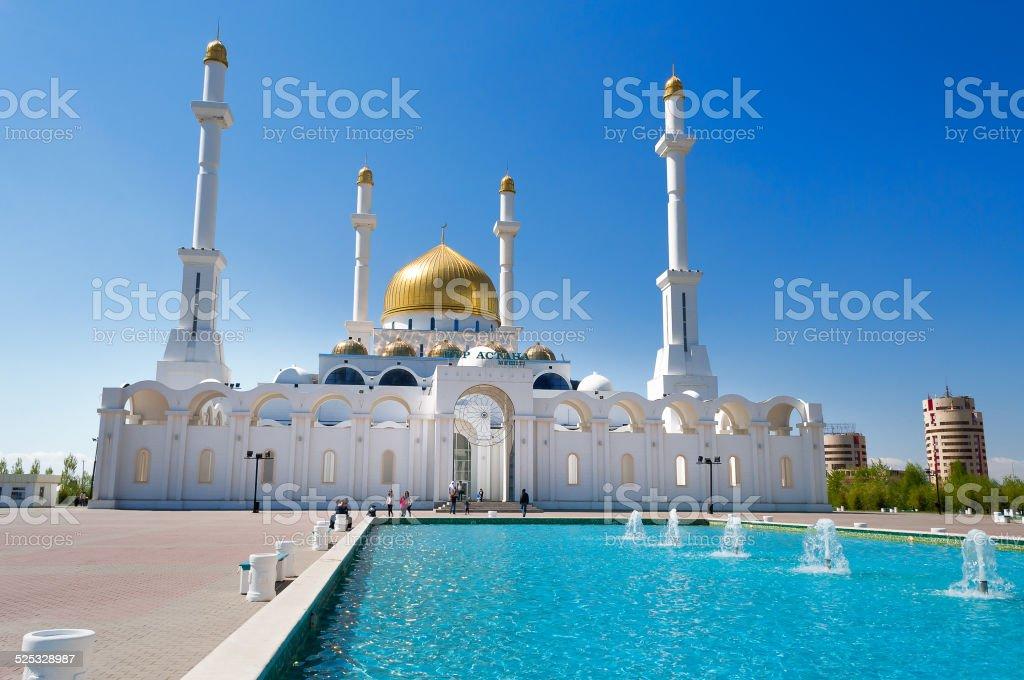 Nur-Astana Mosque stock photo