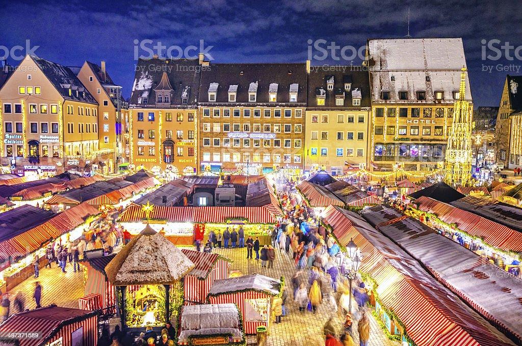 Nuremberg Christmas Market - Christkindlesmarkt Nürnberg royalty-free stock photo