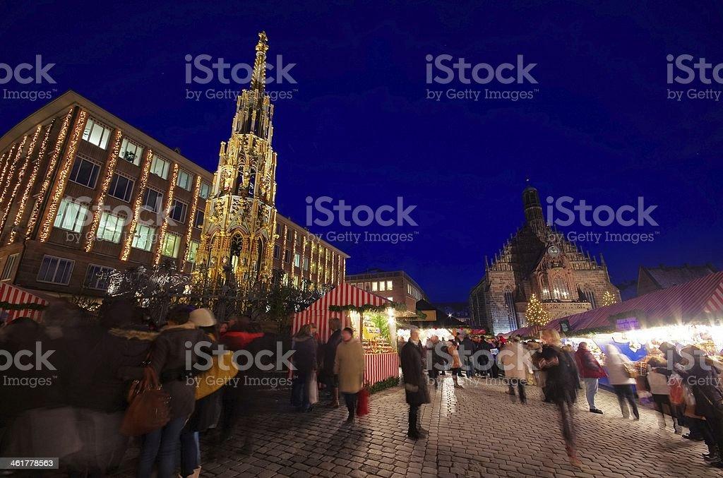 Nuremberg christmas market stock photo