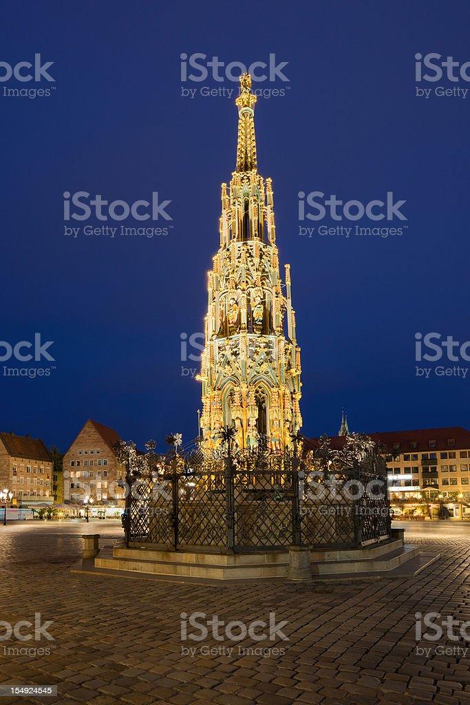 Nuremberg Germany Schoner Brunnen royalty-free stock photo