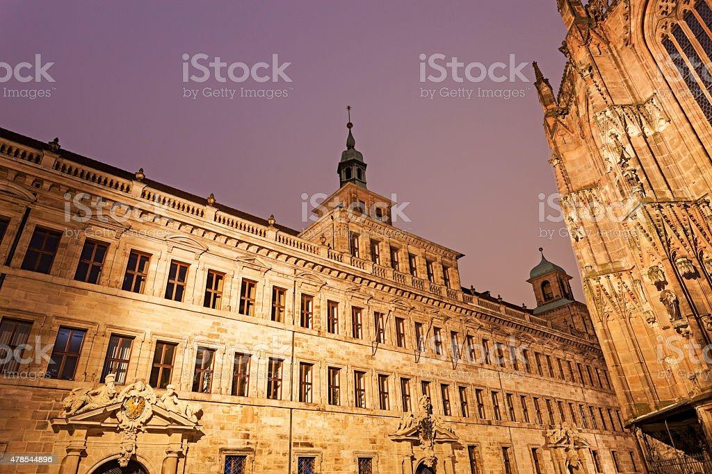 Nuremberg old town hall - Lochgefaengnisse stock photo