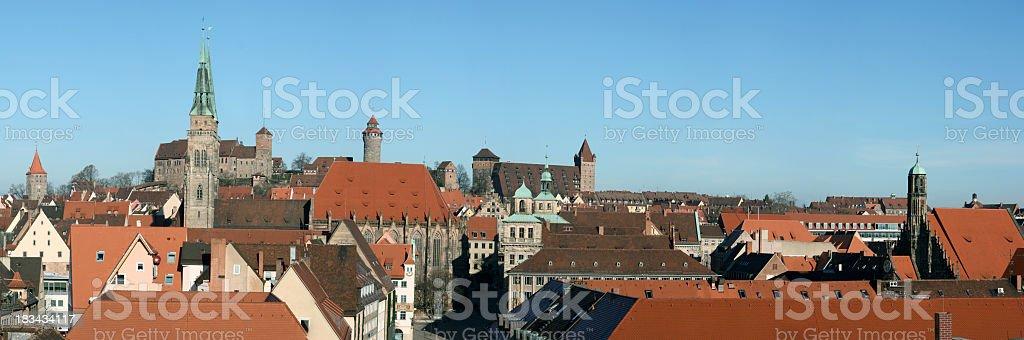 Nuremberg panorama view stock photo