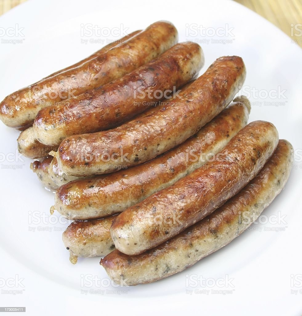 Nürnberger Rostbratwurst stock photo