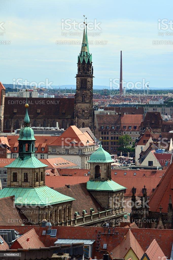 Nurnberg cityscape, Germany stock photo
