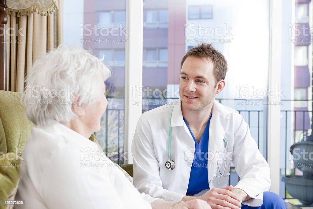 Nurse and senior woman. royalty-free stock photo