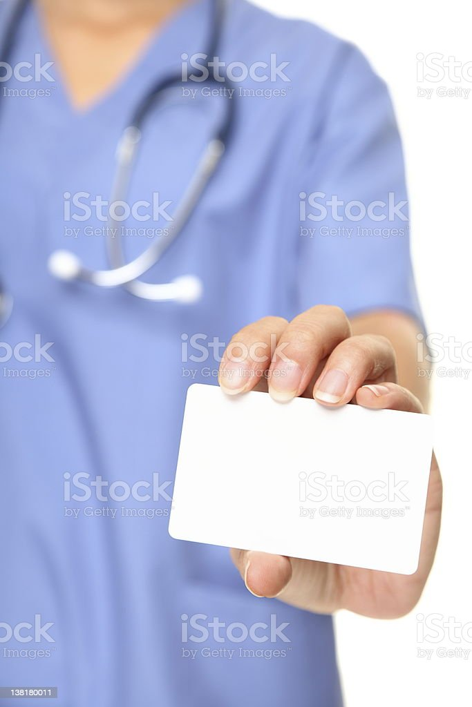 Nurse business card royalty-free stock photo