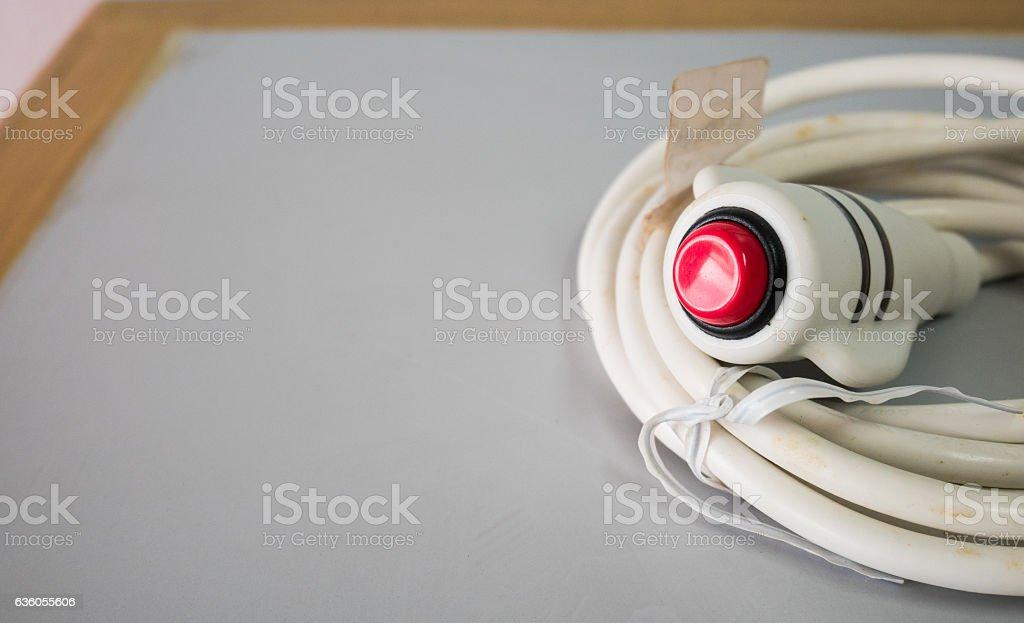 Nurse call button in hospital. stock photo
