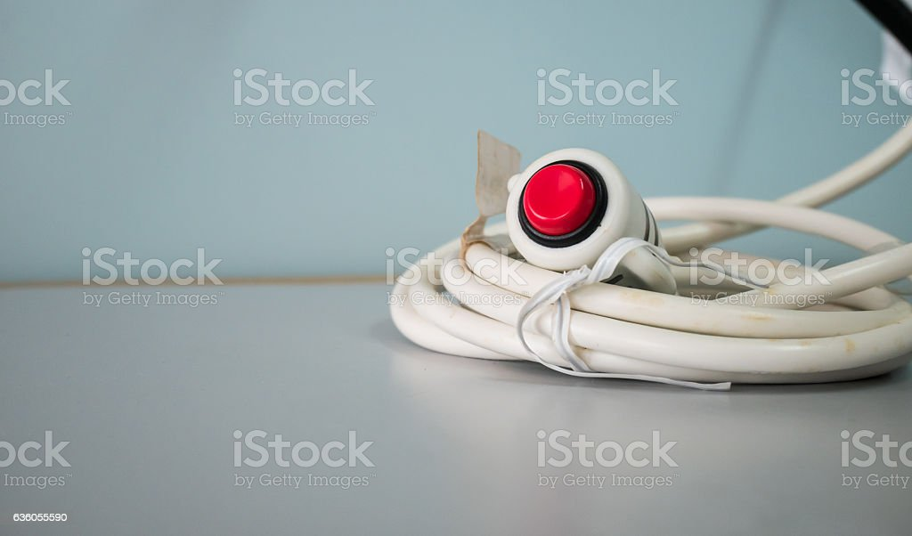 Nurse call button or emergency call  in hospital. stock photo