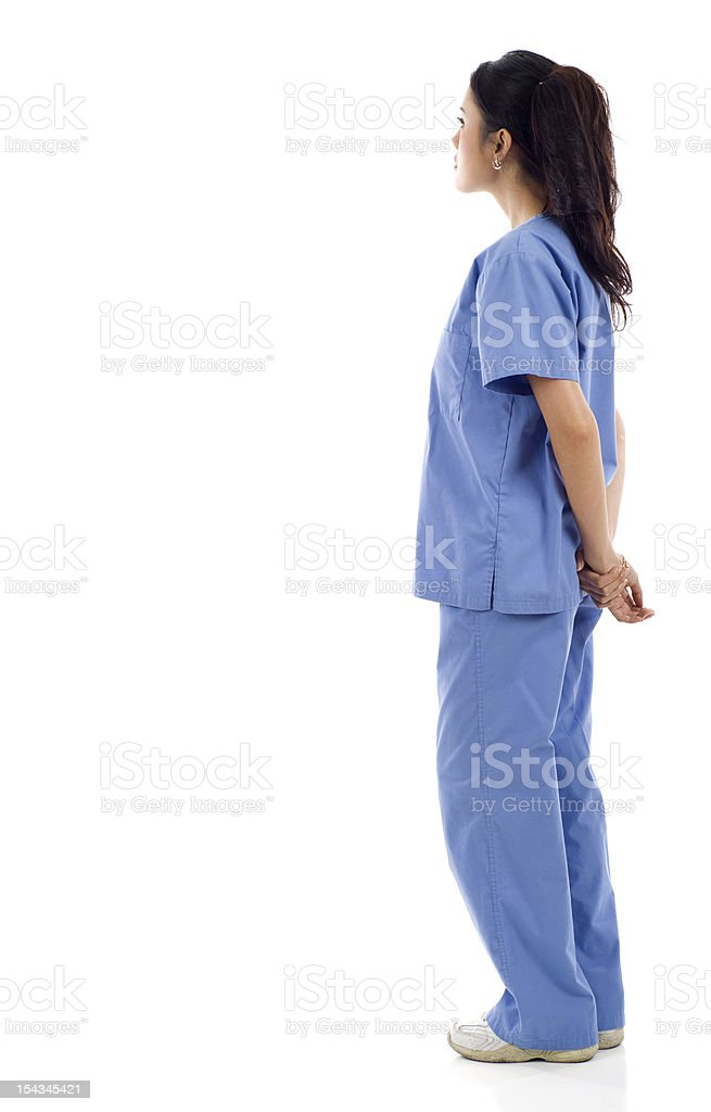 Nurse from the Back royalty-free stock photo