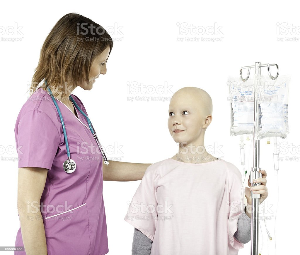 Nurse Helping a Chemotherapy Patient royalty-free stock photo