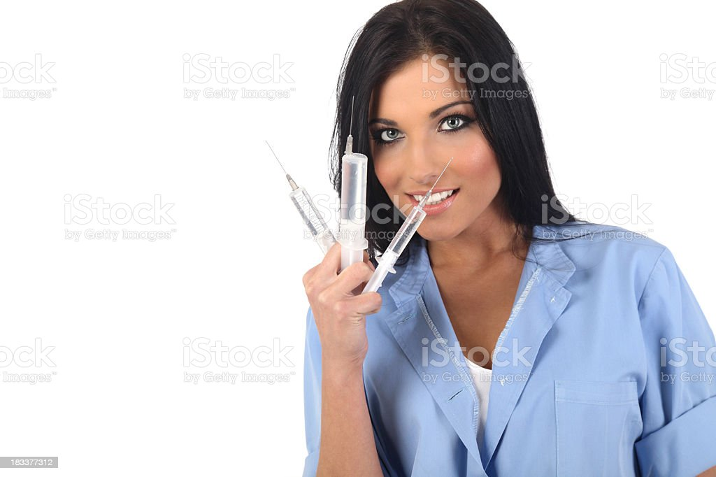 Nurse in action royalty-free stock photo