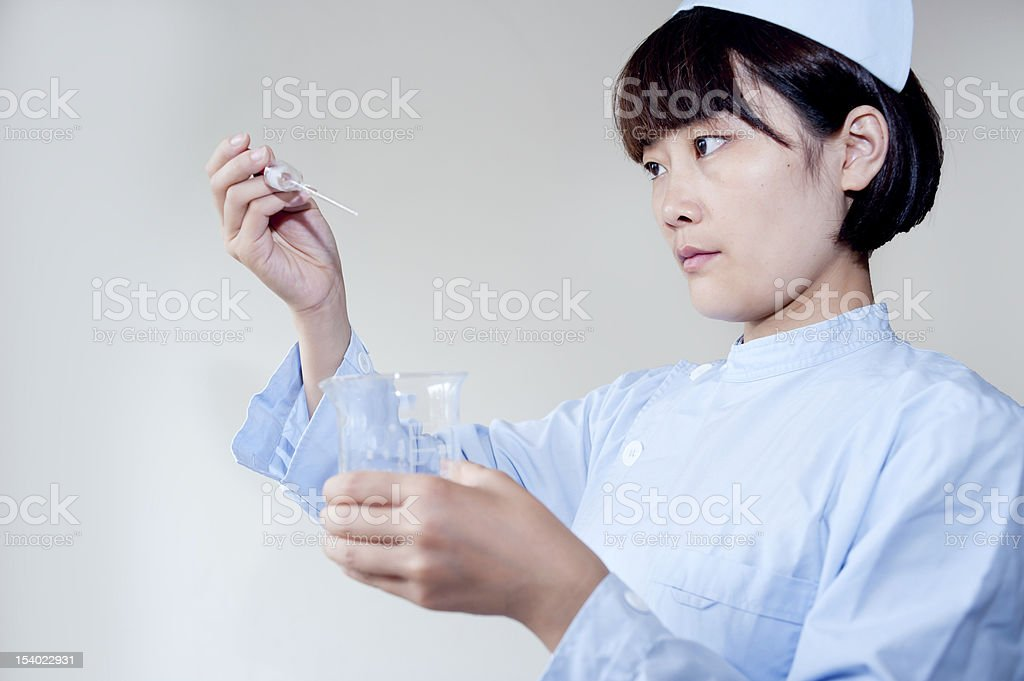 nurse in medical experiments royalty-free stock photo