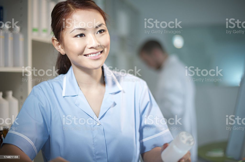 nurse in the dispensary royalty-free stock photo
