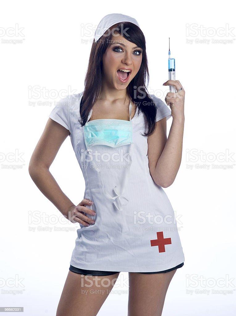 nurse in uniform royalty-free stock photo