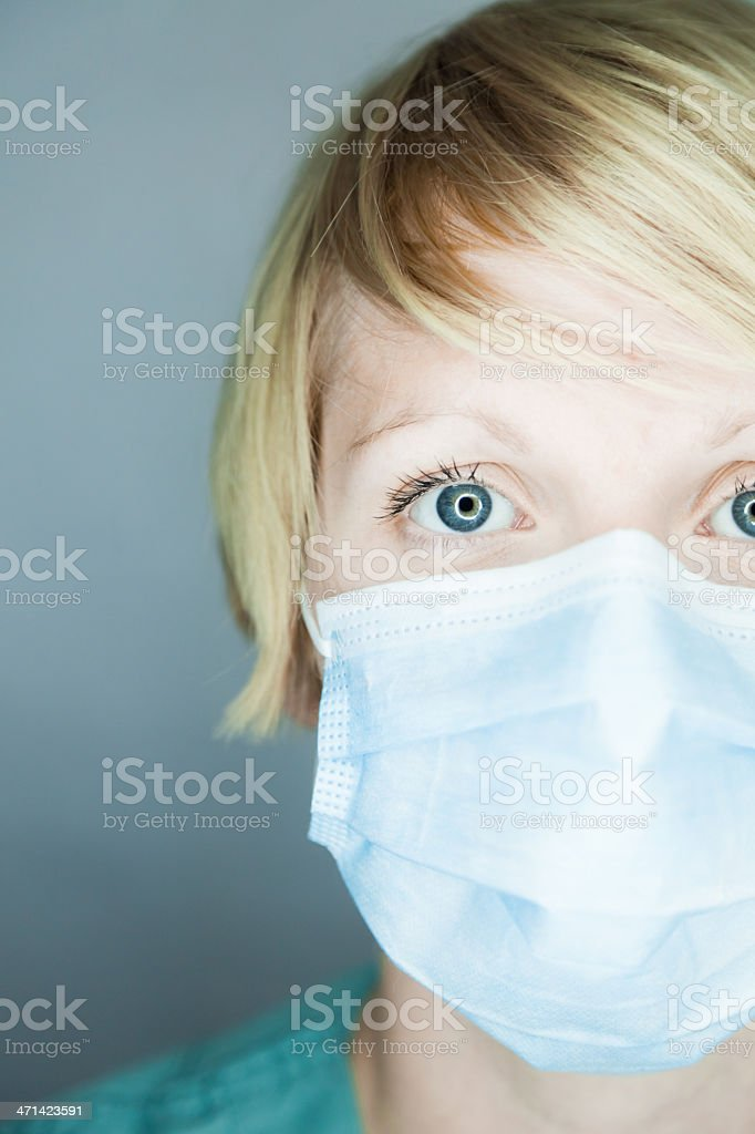 Nurse looking at you stock photo