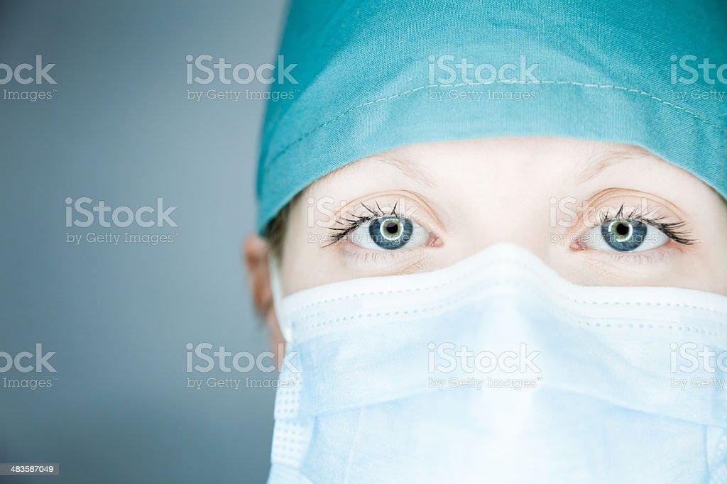Nurse looking at you (close-up) royalty-free stock photo