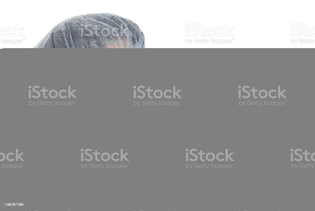 Nurse pointing royalty-free stock photo