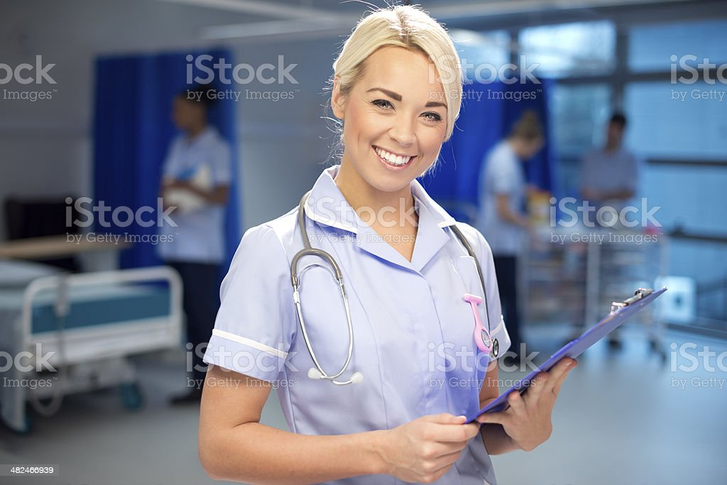 nurse portrait royalty-free stock photo