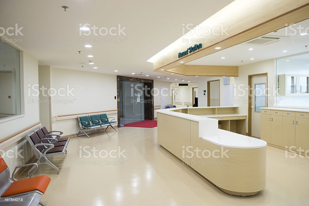 nurse station stock photo