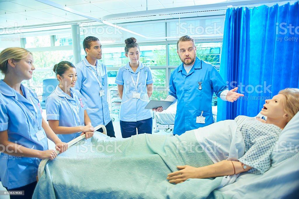 nurse training ward stock photo