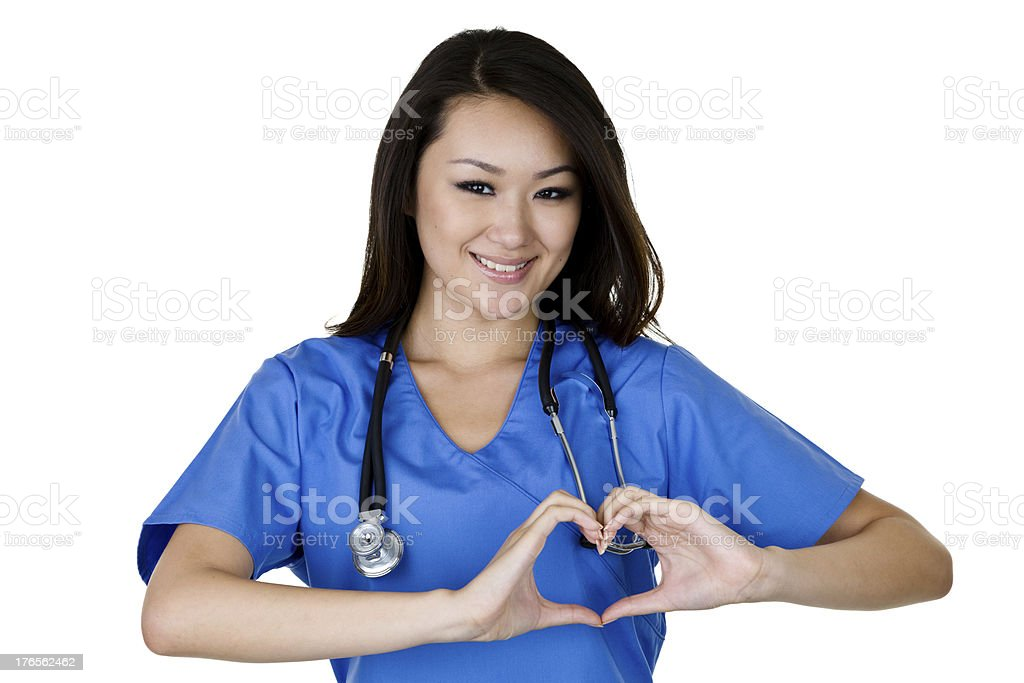Nurse wearing scrubs royalty-free stock photo