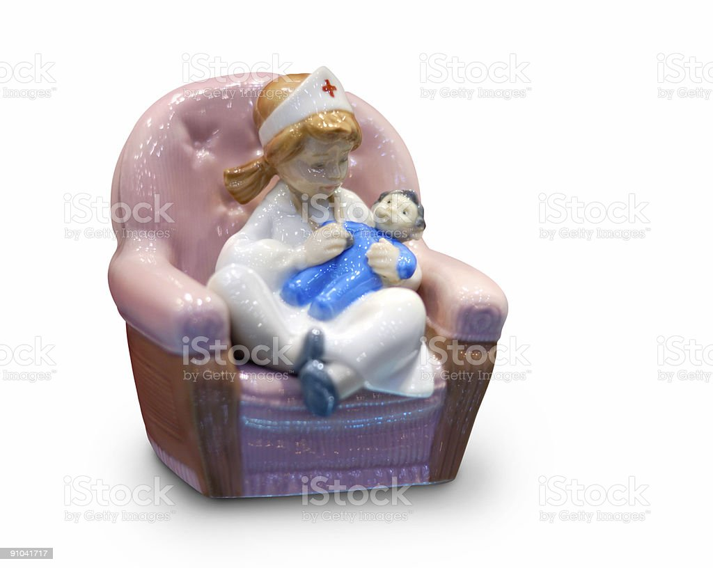 Nurse with Baby royalty-free stock photo
