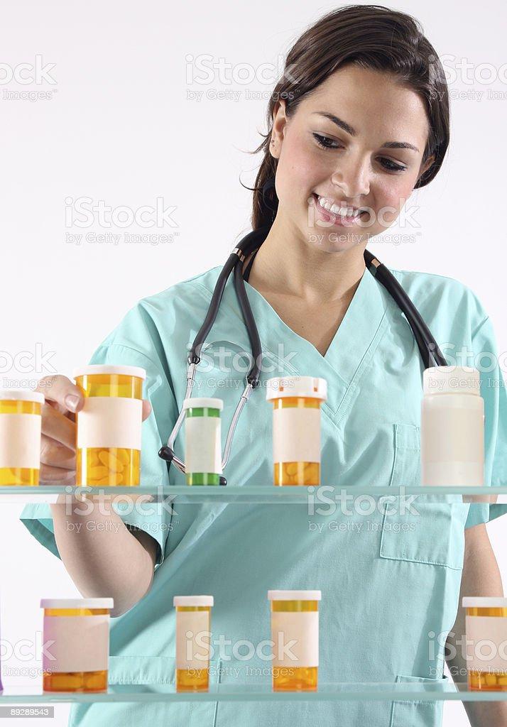 Nurse with medication royalty-free stock photo