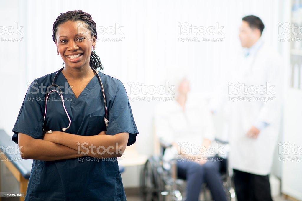 Nurse with Patient stock photo