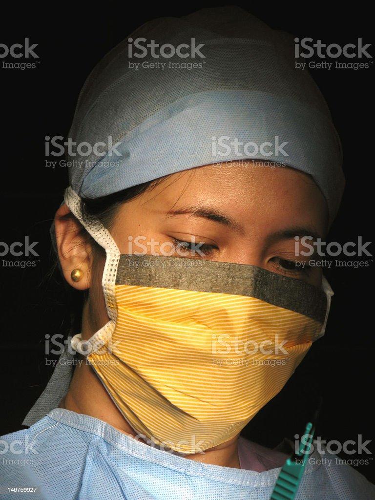 Nurse With Scalpel royalty-free stock photo