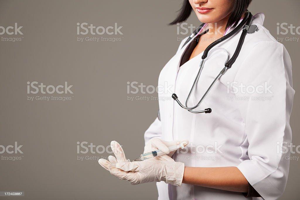 Nurse with syringe royalty-free stock photo
