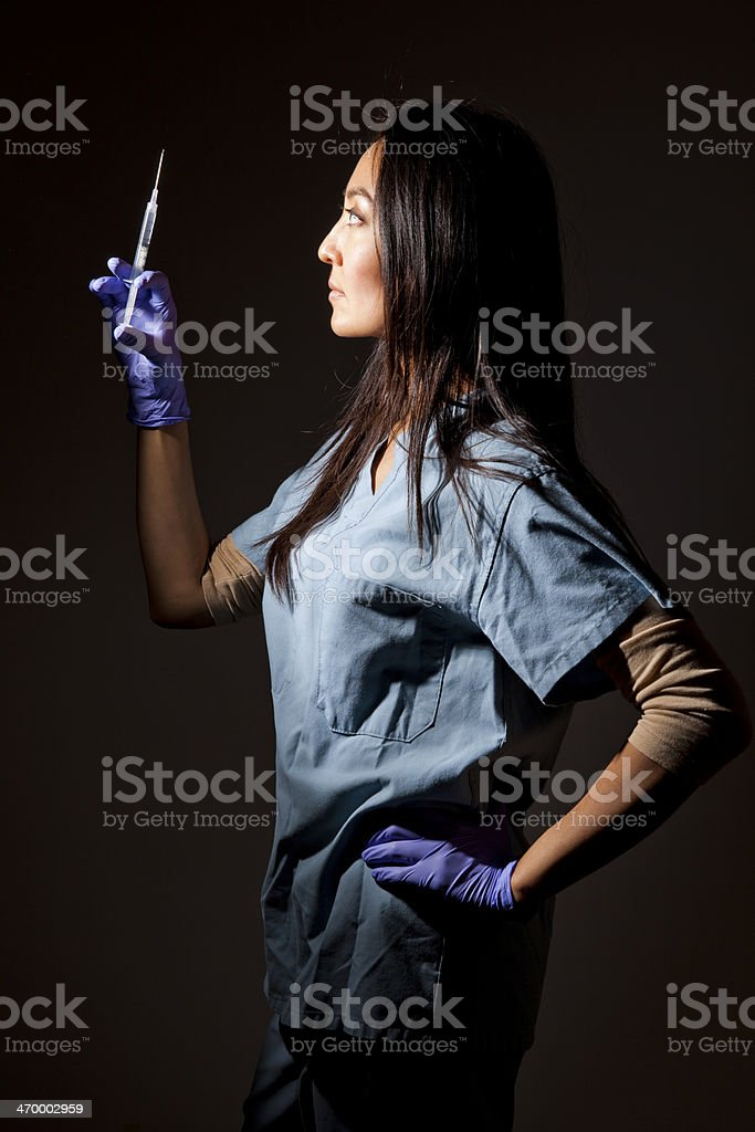 Nurse with Syringe royalty-free stock photo