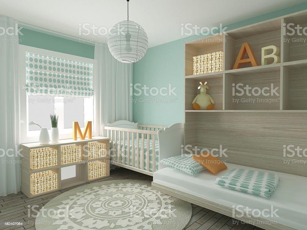 Nursery children's bedroom stock photo