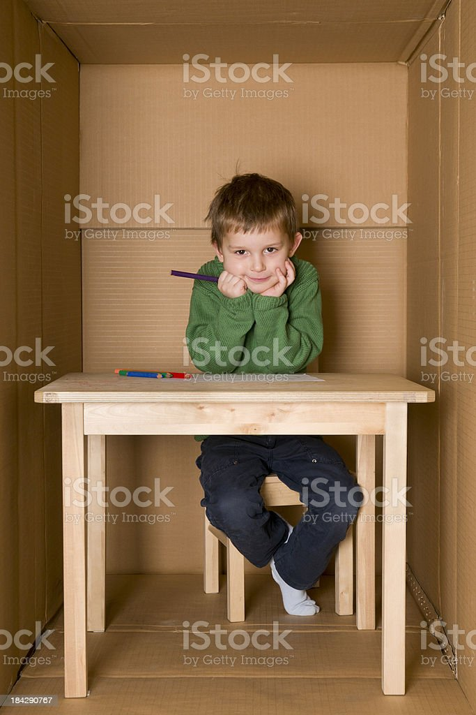 nursery in a box royalty-free stock photo