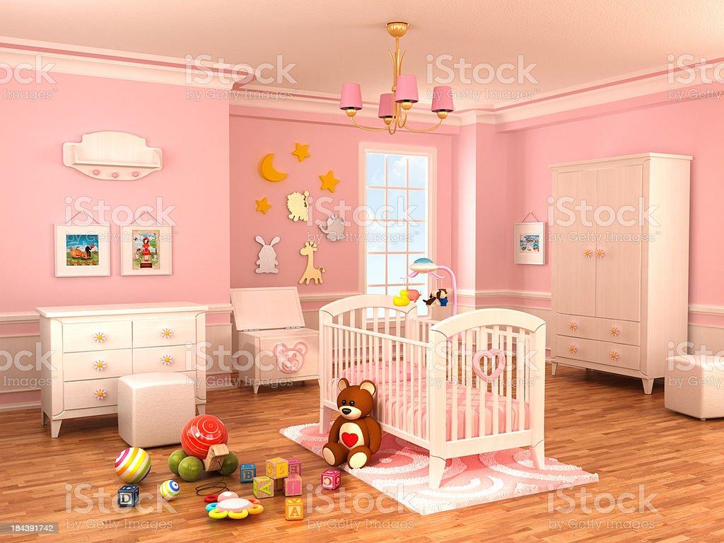 Nursery room stock photo