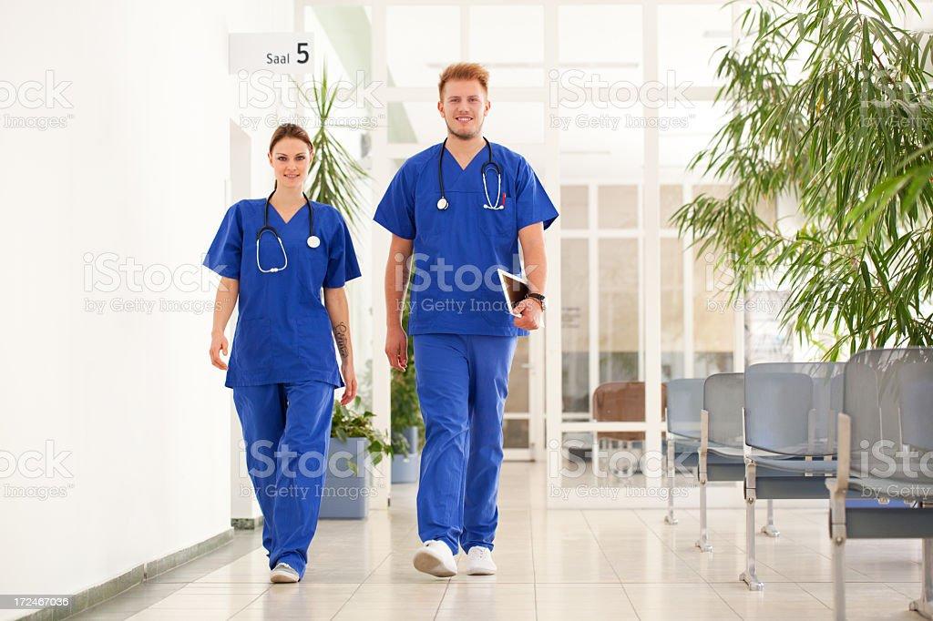 Nurses at the hospital stock photo