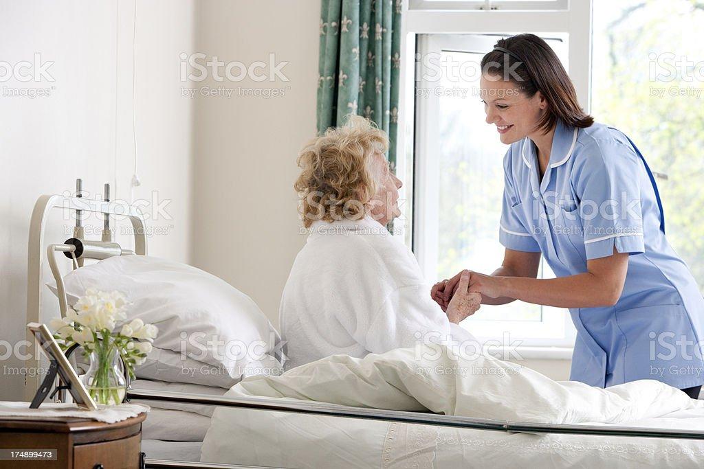 Nurses help royalty-free stock photo