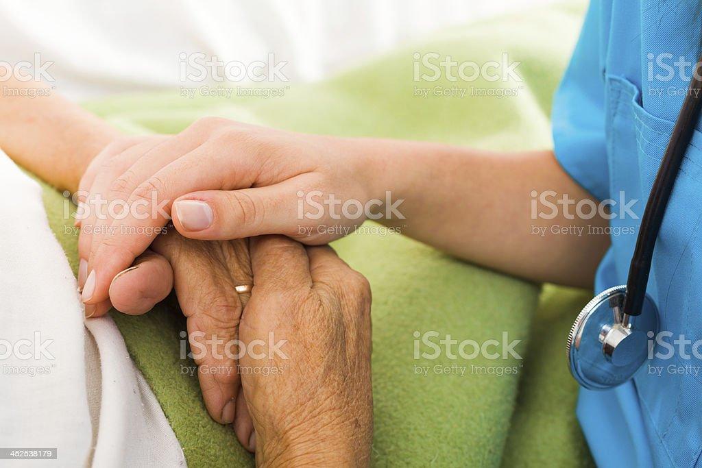 Nurses Helping Elderly stock photo