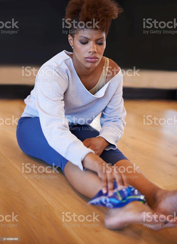 Nursing a dance injury stock photo