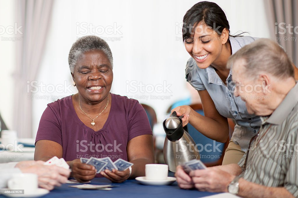 Nursing Home Activity stock photo
