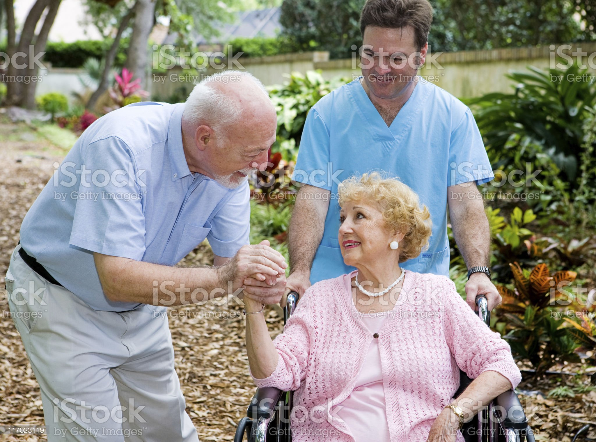 Nursing Home Visit royalty-free stock photo